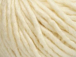 Fiber Content 50% Merino Wool, 25% Acrylic, 25% Alpaca, Brand ICE, Ecru, Yarn Thickness 6 SuperBulky  Bulky, Roving, fnt2-48098