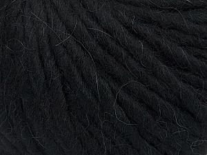 Fiber Content 50% Merino Wool, 25% Acrylic, 25% Alpaca, Brand ICE, Black, Yarn Thickness 6 SuperBulky  Bulky, Roving, fnt2-48178
