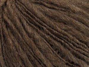 Fiber Content 60% Merino Wool, 40% Acrylic, Brand ICE, Dark Camel, Yarn Thickness 4 Medium  Worsted, Afghan, Aran, fnt2-48293
