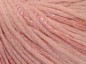 Fiber Content 79% Cotton, 21% Viscose, Light Pink, Brand ICE, Yarn Thickness 3 Light  DK, Light, Worsted, fnt2-48345