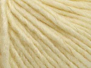 Fiber Content 50% Merino Wool, 25% Alpaca, 25% Acrylic, Brand ICE, Cream, Yarn Thickness 5 Bulky  Chunky, Craft, Rug, fnt2-48703