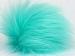 Mint Green 2 Faux Fur PomPoms