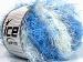 Modena Viscose Blue Shades, White