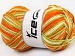 Natural Cotton Color Worsted White Orange Green Shades