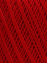 Ne: 10/3 Nm: 17/3 Fiber Content 100% Mercerised Cotton, Red, Brand ICE, Yarn Thickness 1 SuperFine  Sock, Fingering, Baby, fnt2-49564