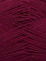 Ne: 8/4. Nm 14/4 Fiber Content 100% Mercerised Cotton, Brand ICE, Burgundy, Yarn Thickness 2 Fine  Sport, Baby, fnt2-49598