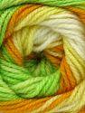 . Fiber Content 100% Baby Acrylic, Yellow, White, Orange, Brand ICE, Green, Yarn Thickness 2 Fine  Sport, Baby, fnt2-50004