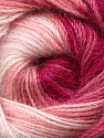 Fiber Content 60% Premium Acrylic, 20% Mohair, 20% Wool, White, Pink Shades, Brand ICE, Yarn Thickness 2 Fine  Sport, Baby, fnt2-50301