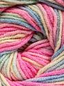 Fiber Content 55% Cotton, 45% Acrylic, Pink, Brand ICE, Cream, Blue, Yarn Thickness 3 Light  DK, Light, Worsted, fnt2-51447