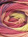 Fiber Content 55% Cotton, 45% Acrylic, Lilac, Light Pink, Brand ICE, Cream, Yarn Thickness 3 Light  DK, Light, Worsted, fnt2-51449