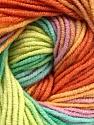 Fiber Content 55% Cotton, 45% Acrylic, Yellow, Orange, Lilac, Brand ICE, Green Shades, Yarn Thickness 3 Light  DK, Light, Worsted, fnt2-51451