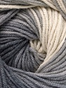 Fiber Content 55% Cotton, 45% Acrylic, White, Brand ICE, Grey Shades, Yarn Thickness 3 Light  DK, Light, Worsted, fnt2-51538