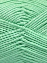 Fiber Content 50% Acrylic, 50% Bamboo, Mint Green, Brand ICE, Yarn Thickness 2 Fine  Sport, Baby, fnt2-51655