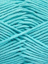 Fiber Content 55% Cotton, 45% Acrylic, Light Turquoise, Brand ICE, Yarn Thickness 4 Medium  Worsted, Afghan, Aran, fnt2-52025