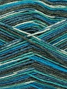 Fiber Content 50% Superwash Merino Wool, 25% Bamboo, 25% Polyamide, Turquoise, Brand ICE, Grey, Blue, Yarn Thickness 1 SuperFine  Sock, Fingering, Baby, fnt2-52243