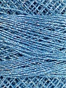 Fiber Content 70% Polyester, 30% Metallic Lurex, Brand YarnArt, Silver, Light Blue, Yarn Thickness 0 Lace  Fingering Crochet Thread, fnt2-52254