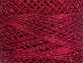Fiber Content 70% Polyester, 30% Metallic Lurex, Brand YarnArt, Silver, Burgundy, Yarn Thickness 0 Lace  Fingering Crochet Thread, fnt2-52257