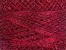 Fiber Content 70% Polyester, 30% Metallic Lurex, Brand YarnArt, Silver, Burgundy, Yarn Thickness 0 Lace Fingering Crochet Thread, fnt2-52257