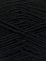 Fiber Content 70% Acrylic, 30% Wool, Brand ICE, Black, Yarn Thickness 4 Medium  Worsted, Afghan, Aran, fnt2-52601