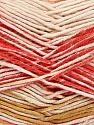 Fiber Content 50% Cotton, 50% Acrylic, Pink Shades, Orange, Olive Green, Brand ICE, Cream, Yarn Thickness 2 Fine  Sport, Baby, fnt2-52917