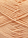 Baby cotton is a 100% premium giza cotton yarn exclusively made as a baby yarn. It is anti-bacterial and machine washable! İçerik 100% Giza Cotton, Light Salmon, Brand Ice Yarns, Yarn Thickness 3 Light DK, Light, Worsted, fnt2-53077