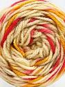 Fiber Content 80% Acrylic, 20% Polyamide, Brand ICE, Gold, Fuchsia, Cream, Brown, Yarn Thickness 4 Medium  Worsted, Afghan, Aran, fnt2-53205