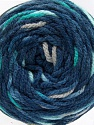 Fiber Content 80% Acrylic, 20% Polyamide, Turquoise, Brand ICE, Grey, Blue Shades, Yarn Thickness 4 Medium  Worsted, Afghan, Aran, fnt2-53210