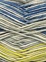 Fiber Content 50% Cotton, 50% Acrylic, Yellow, Brand ICE, Grey Shades, Cream, Blue, Yarn Thickness 2 Fine  Sport, Baby, fnt2-53760