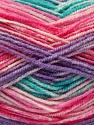 Fiber Content 70% Acrylic, 30% Wool, Turquoise, Pink Shades, Lilac, Brand ICE, Yarn Thickness 2 Fine  Sport, Baby, fnt2-53773