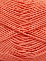 Fiber Content 100% Mercerised Cotton, Light Orange, Brand ICE, Yarn Thickness 2 Fine  Sport, Baby, fnt2-53801