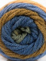 Fiber Content 70% Acrylic, 30% Wool, Khaki, Brand ICE, Green, Dark Cream, Blue, Yarn Thickness 5 Bulky  Chunky, Craft, Rug, fnt2-54072