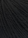 Fiber Content 100% Wool, Brand ICE, Black, Yarn Thickness 4 Medium  Worsted, Afghan, Aran, fnt2-54116