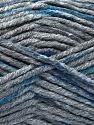 Fiber Content 80% Acrylic, 20% Polyamide, Brand ICE, Dark Grey, Blue, Anthracite Black, Yarn Thickness 5 Bulky  Chunky, Craft, Rug, fnt2-54134