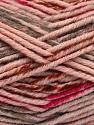 Fiber Content 80% Acrylic, 20% Polyamide, Light Pink, Brand ICE, Grey, Fuchsia, Brown, Yarn Thickness 5 Bulky  Chunky, Craft, Rug, fnt2-54136