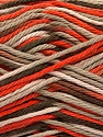 Fiber Content 100% Cotton, Orange, Light Camel, Brand ICE, Cream, Brown, Yarn Thickness 3 Light  DK, Light, Worsted, fnt2-54350