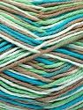 Fiber Content 100% Cotton, White, Turquoise, Mint Green, Brand ICE, Camel, Yarn Thickness 3 Light  DK, Light, Worsted, fnt2-54355