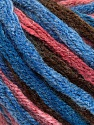 Fiber Content 50% Wool, 50% Acrylic, Salmon, Brand ICE, Brown, Blue Shades, Yarn Thickness 6 SuperBulky  Bulky, Roving, fnt2-54383