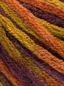 Fiber Content 50% Wool, 50% Acrylic, Purple, Olive Green, Brand ICE, Copper, Yarn Thickness 6 SuperBulky  Bulky, Roving, fnt2-54410