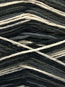 Fiber Content 75% Superwash Wool, 25% Polyamide, Brand ICE, Grey, Cream, Black, Yarn Thickness 1 SuperFine  Sock, Fingering, Baby, fnt2-54430