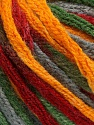 Fiber Content 50% Wool, 50% Acrylic, Brand ICE, Grey, Green, Gold, Burgundy, Yarn Thickness 6 SuperBulky  Bulky, Roving, fnt2-54485