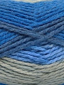 Fiber Content 70% Acrylic, 30% Wool, Brand ICE, Grey, Blue Shades, Yarn Thickness 4 Medium  Worsted, Afghan, Aran, fnt2-54677