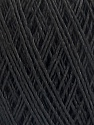 Fiber Content 90% Viscose, 10% Polyamide, Brand ICE, Black, Yarn Thickness 2 Fine  Sport, Baby, fnt2-55109