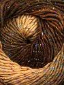 Fiber Content 48% Wool, 48% Acrylic, 4% Metallic Lurex, Brand ICE, Brown Shades, Yarn Thickness 2 Fine  Sport, Baby, fnt2-55565
