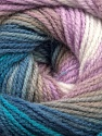 Fiber Content 100% Acrylic, White, Lilac, Brand ICE, Blue Shades, Beige, Yarn Thickness 3 Light  DK, Light, Worsted, fnt2-55951