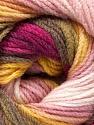 Fiber Content 100% Acrylic, Yellow, Pink Shades, Khaki, Brand ICE, Burgundy, Yarn Thickness 3 Light  DK, Light, Worsted, fnt2-56087