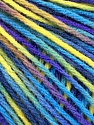 Fiber Content 50% Acrylic, 50% Wool, Yellow, Turquoise, Purple, Navy, Brand ICE, Yarn Thickness 3 Light  DK, Light, Worsted, fnt2-56218