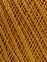 Ne: 10/3 Nm: 17/3 Fiber Content 96% Mercerised Cotton, 4% Metallic Lurex, Brand ICE, Dark Gold, Yarn Thickness 1 SuperFine  Sock, Fingering, Baby, fnt2-56319