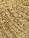 Fiber Content 77% Wool, 12% Polyamide, 11% Metallic Lurex, Brand ICE, Gold, Cream, fnt2-56966