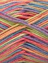 Fiber Content 100% Acrylic, Turquoise, Salmon, Orange, Lilac, Brand ICE, Yarn Thickness 2 Fine  Sport, Baby, fnt2-57356