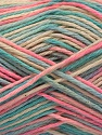 Fiber Content 100% Acrylic, Pink, Mint Green, Light Blue, Brand ICE, Cream, Yarn Thickness 2 Fine  Sport, Baby, fnt2-57359